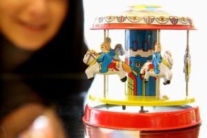 Foto von einem Spielzeugkarusell